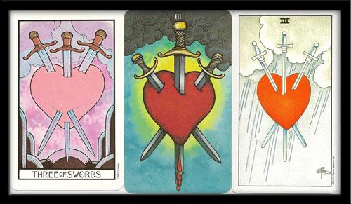 three of swords tarot meaning