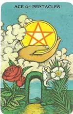 Ace Of Pentacles Tarot Card Morgan Greer