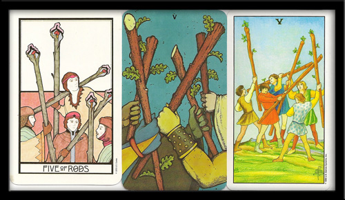 Five Of Wands Meanings