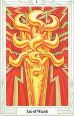 Ace Of Wands Tarot Card Thoth Tarot