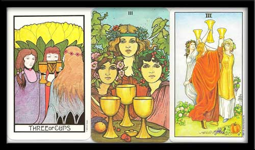 Three of cups meaning in Tarot
