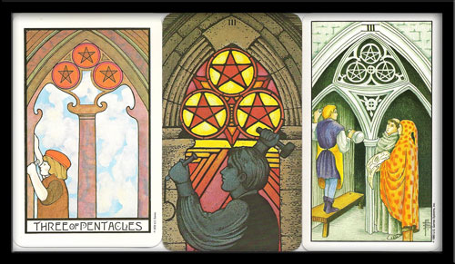 three of pentacles meaning in Tarot