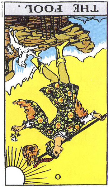Fool Card Meaning in a Reading Reversed