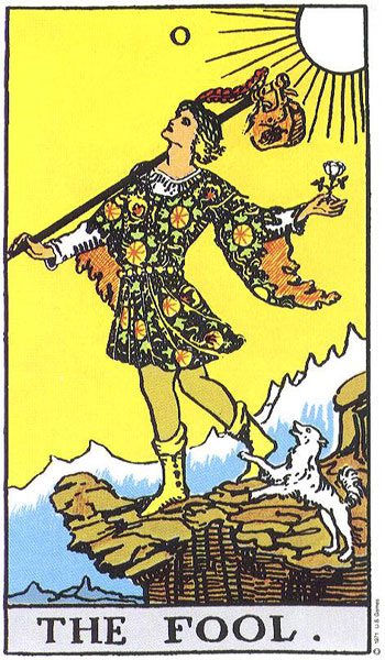Fool Card Meaning in a Reading Upright