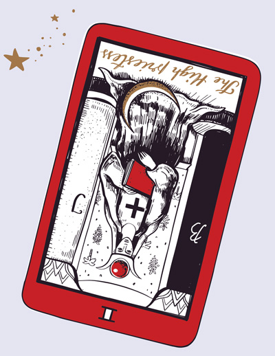 High Priestess Card in a Reading - Reversed