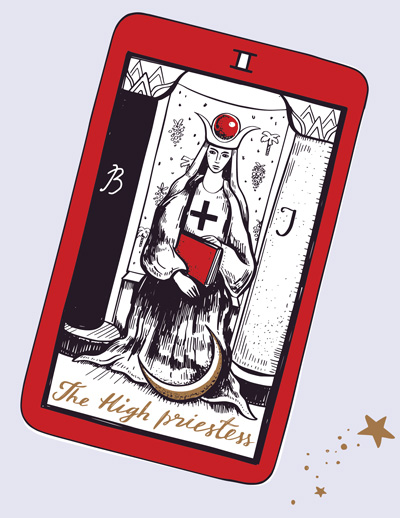 High Priestess in a Reading - Upright